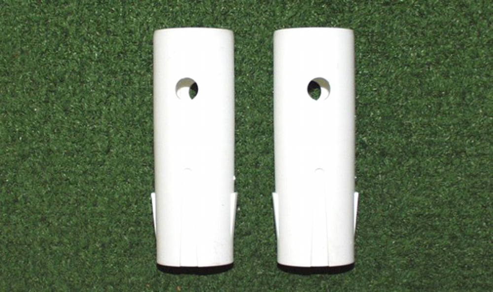 Goal post corner bracket spigots (two) - plastic version